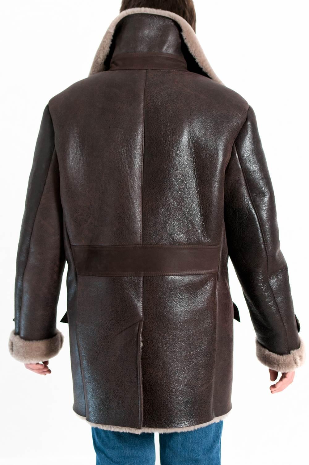 39 korto df 39 manteau peau de mouton retourn bombardier. Black Bedroom Furniture Sets. Home Design Ideas