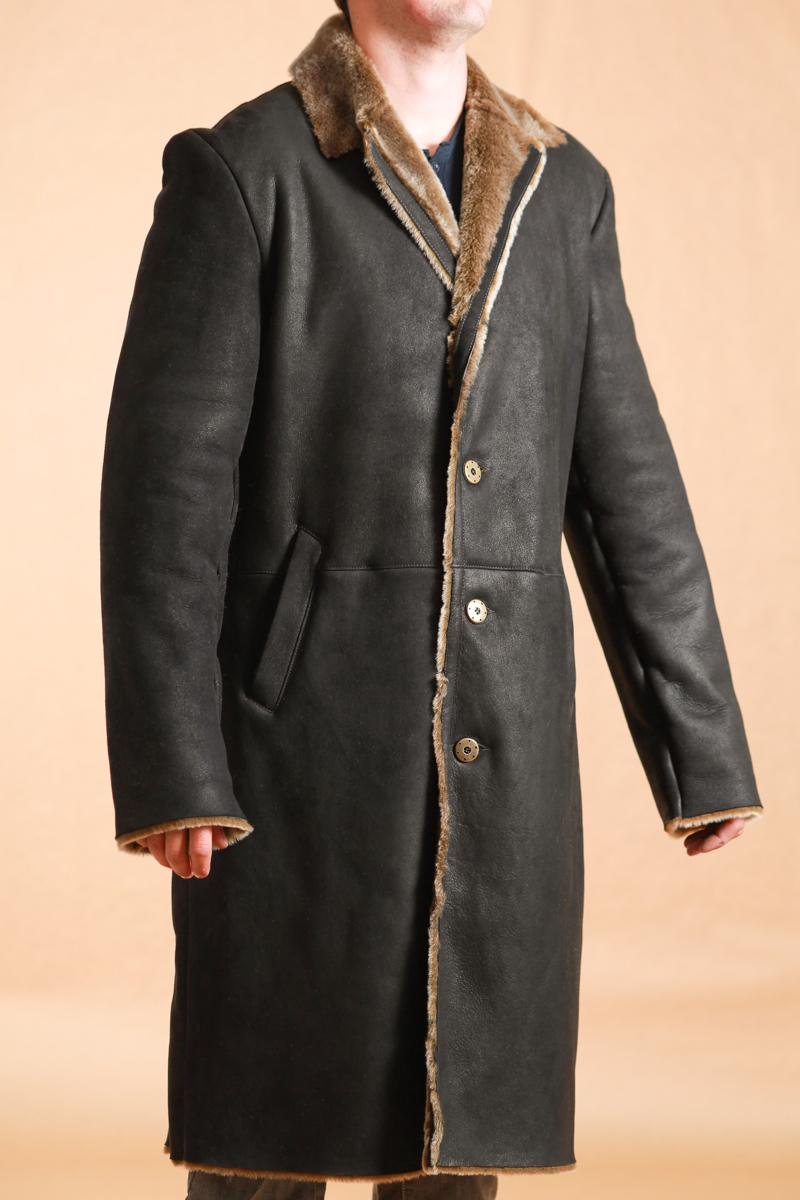 39 steven 39 manteau peau lain e homme shearling. Black Bedroom Furniture Sets. Home Design Ideas