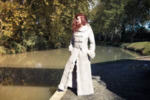 ERIKA TRESSE' Manteau peau lainée femme Shearling
