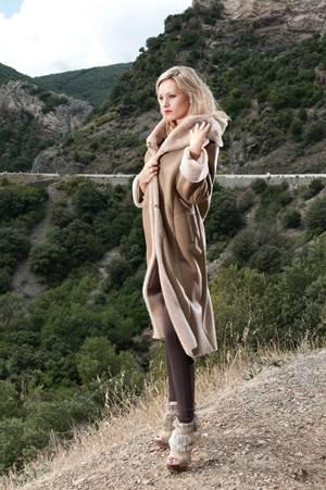 39 vianney 78 39 manteau long en peau lain e shearling. Black Bedroom Furniture Sets. Home Design Ideas