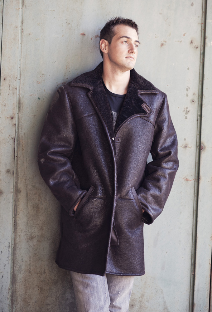 39 ga tan 39 manteau peau de mouton retourn homme shearling. Black Bedroom Furniture Sets. Home Design Ideas