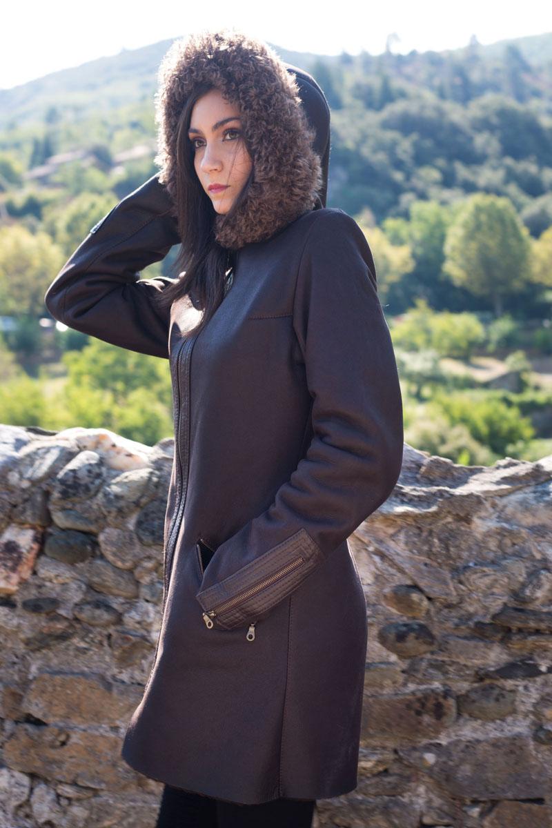 39 emeline long 39 manteau peau mouton retourn shearling. Black Bedroom Furniture Sets. Home Design Ideas